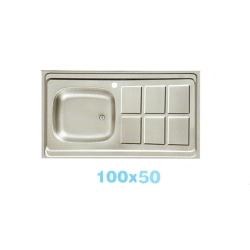 سینک معمولی اخوان تک لگنه براق 6 مربع سرامیکی 100x50