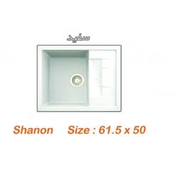 سینک گرانیتی آروما مدل Shanon رنگ سفید