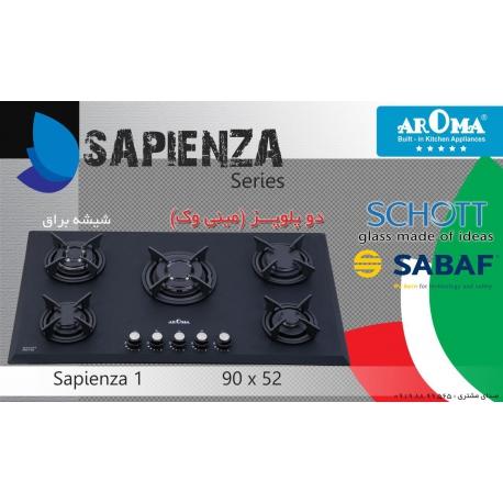 اجاق گاز شیشه ای آروما مدل ساپینزا 1