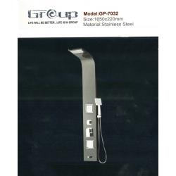 پنل دوش استیل مشکی گروپ مدل 7032/1
